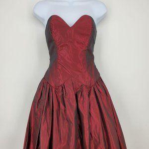 Vintage Sleeveless Taffeta Petticoat Party Dress